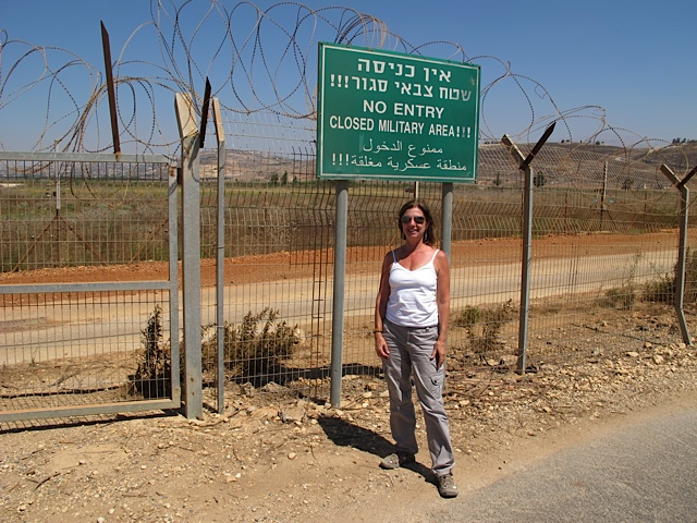 Visiting the Peace Fence