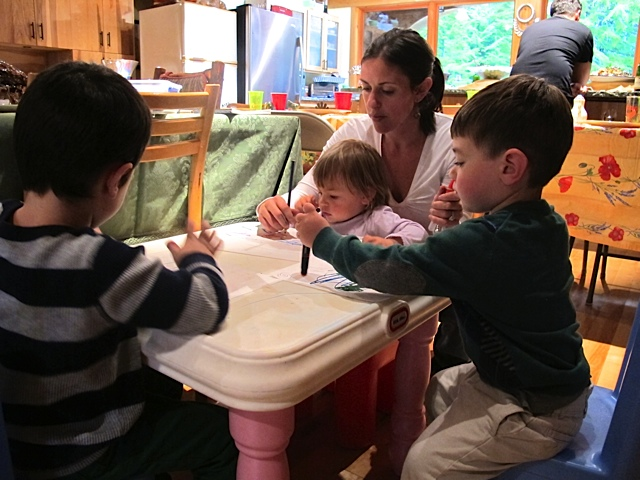 Shira and Kids at the Kids Table