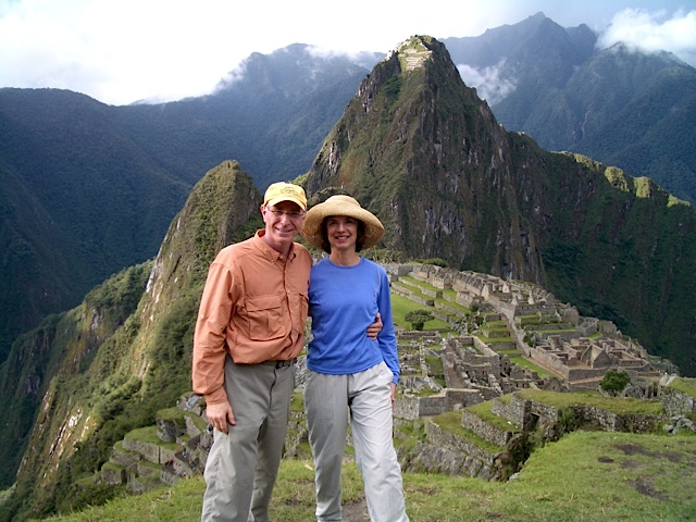 One Of My Favorite Travel Photos - Wayne & I at Machu Pichu - December 2004