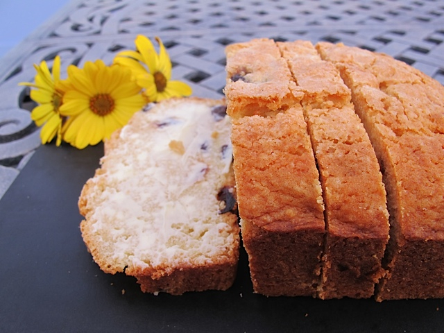 Brown Butter Cherry Breakfast Loaf - Right Out of the Oven!