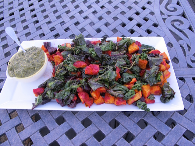Wintery Roasted Root Vegetable Salad