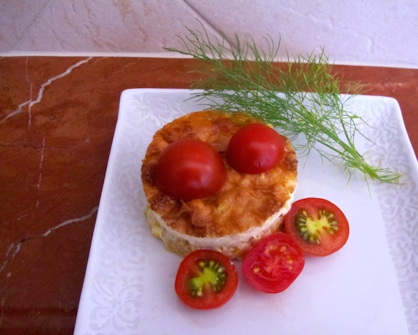 Comforting Corn Pudding with Colorful Tomatoes