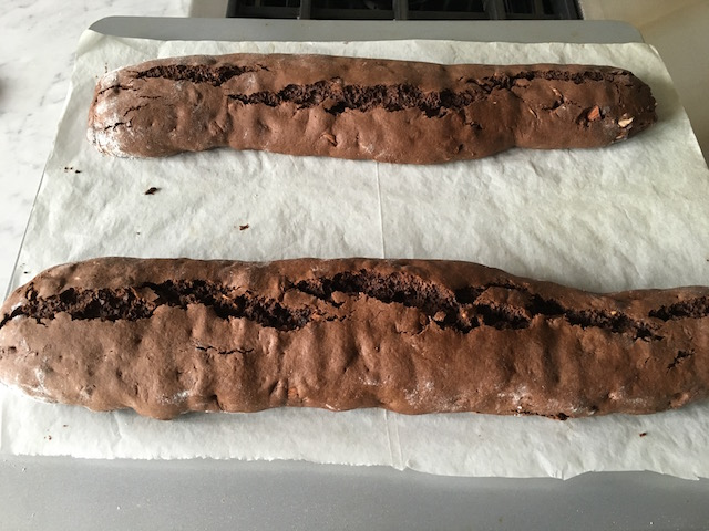 Chocolate logs - just baked