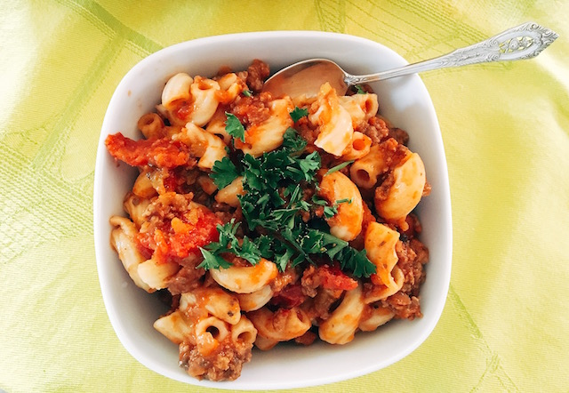 Savory Meat & Pasta Stew