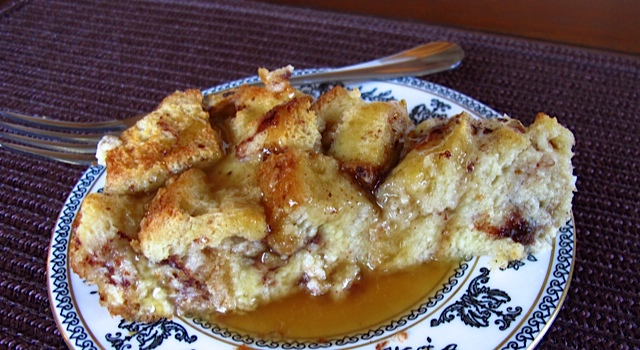 Decadent Bread Pudding with Caramel Sauce