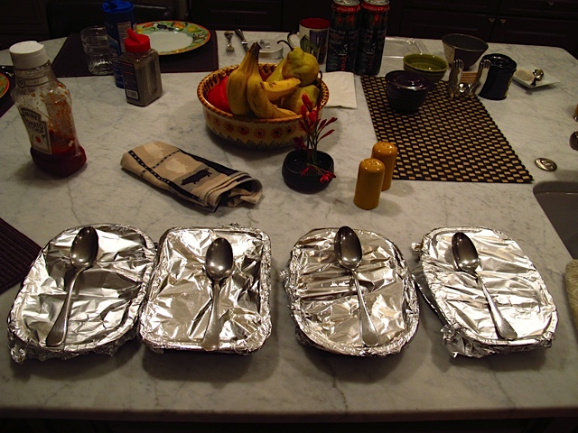 "Foiled! ""TV"" Dinners ... not so tantalizing."