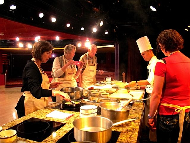 September 2013 on a cruise ship to Alaska...always cooking and learning