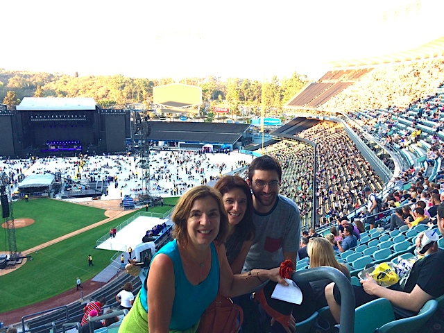 With Sister Kay and Nephew Elliot - Dodger Stadium, New York