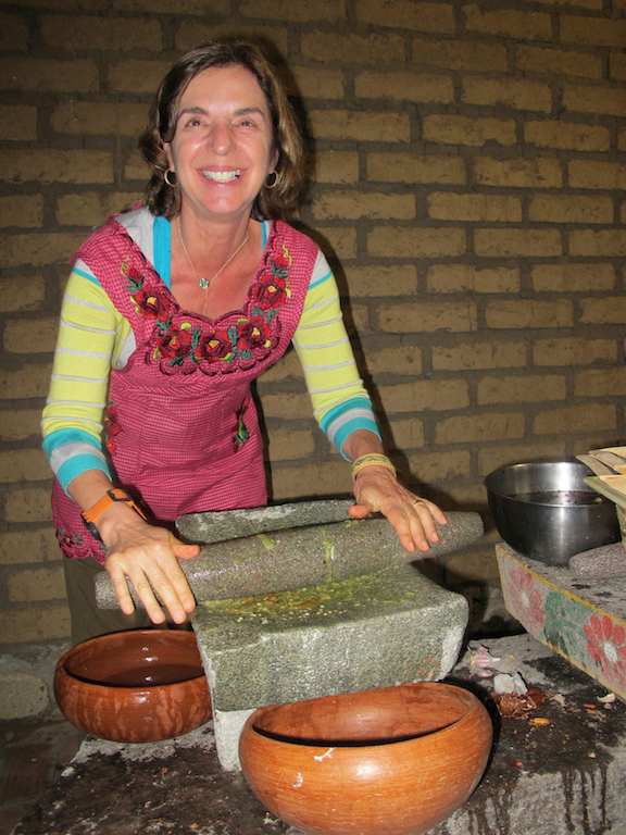 Making Fresh Salsa, Oaxaca, Mexico