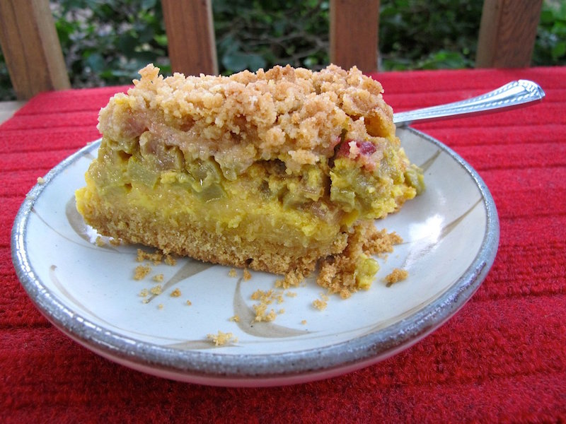 "Rhubarb Custard Dessert ... or ""Rhubarb Crack"" as it's lovingly known in our family"