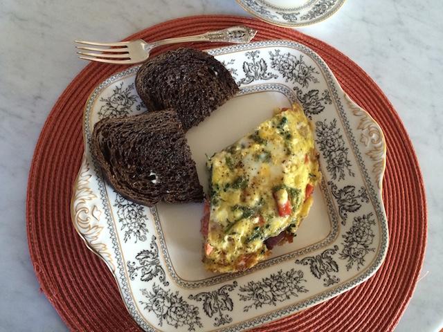 Easy Omelette & Crisp Rye Toast
