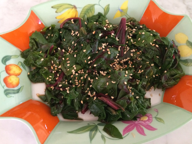 Beet Greens & Pan Asian Dressing