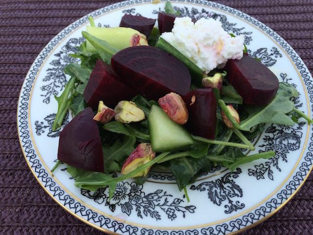 Beautiful Beet & Arugula Salad