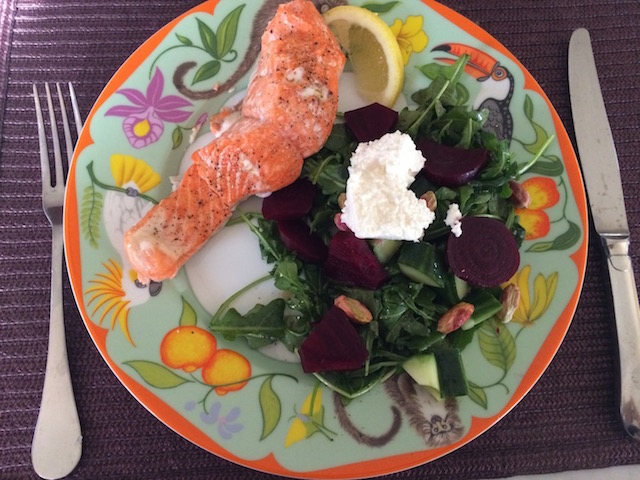 Salad & Salmon - Nothing Better!
