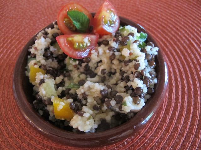 Colorful Couscous & Lentil Salad
