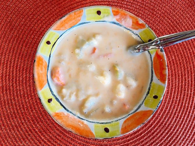 Velvety Vegetable Cheddar Soup