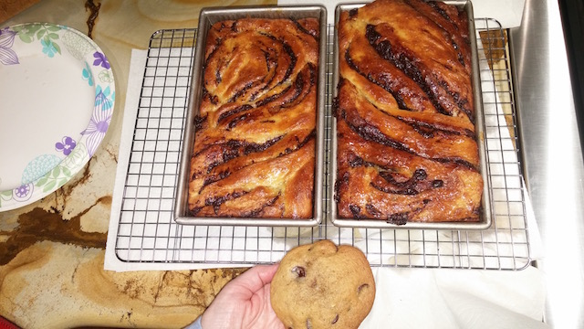 Kal's Babka (note cookie - which he baked at the same time, of course!)